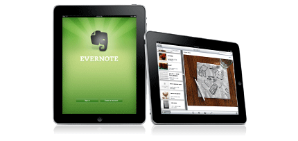 Evernote op Ipad